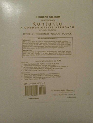 9780072309317: Student CD-ROM to accompany Kontakte: A Communicative Approach