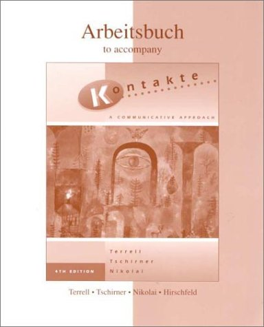 9780072309720: Workbook/Lab Manual to accompany Kontakte: A Communicative Approach