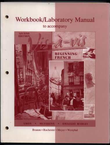 9780072310429: Workbook/Lab Manual to accompany Vis-a-vis: Beginning French