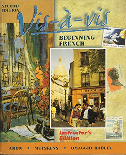 9780072310634: Vis-a-vis Beginning French Instructor's Edition Second Edition