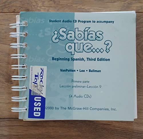 9780072310801: Student Audio Cd Program to Accompany Sabias Que: Beginning Spanish