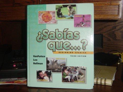 9780072310948: Sabias Que? Beginning Spanish (Instructor's Edition)