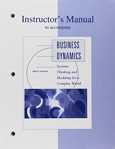 9780072311365: Instructor's Manual to Accompany Business Dynamics: Systems Thinking and Modelling for a Complex World