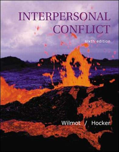 9780072312539: Interpersonal Conflict