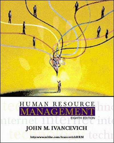 Human Resource Management, 8th Edition: Ivancevich, John M.