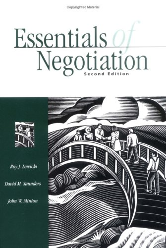 9780072312850: Essentials of Negotiation