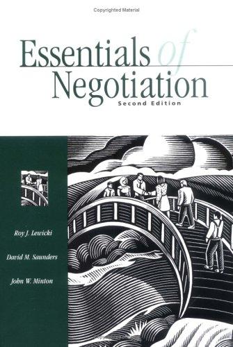 9780072312850: Essentials of Negotiation