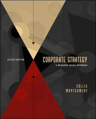 9780072312867: Corporate Strategy: A Resource-Based Approach