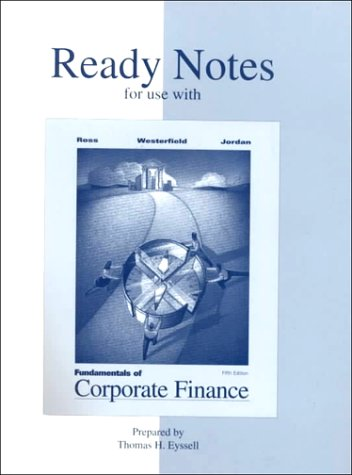 9780072313000: Ready Notes to accompany Fundamentals of Corporate Finance