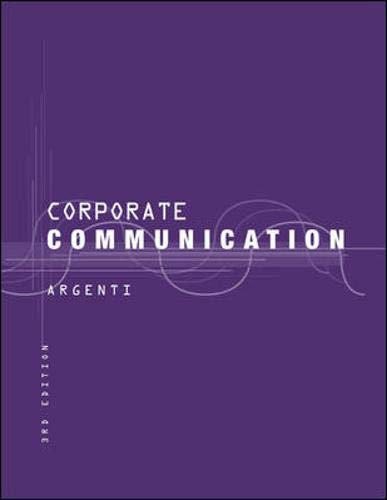 9780072314021: Corporate Communication