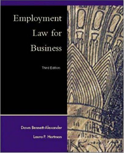 9780072314038: Employment Law for Business