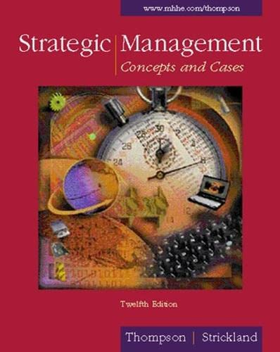 9780072314991: Strategic Management: Concepts and Cases (Strategic Management : Concepts and Cases, 12th ed)
