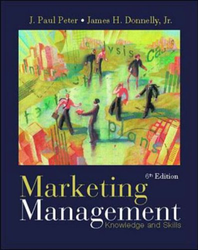 9780072315578: Marketing Management: Knowledge and Skills
