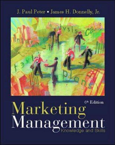 9780072315578: Marketing Management: Knowledge & Skills