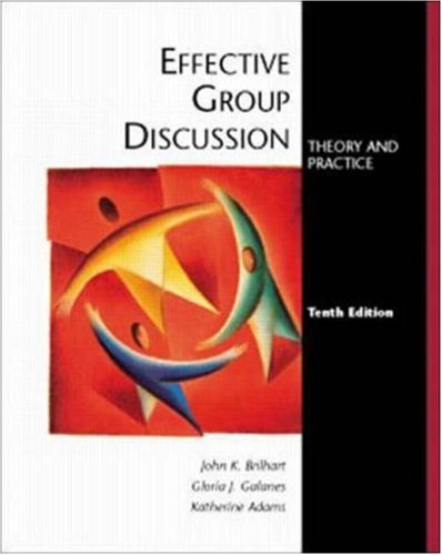 9780072315684: Effective Group Discussion: Theory and Practice