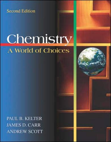 9780072315905: Chemistry: A World of Choices with Online Learning Center
