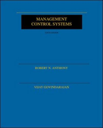 9780072316353: Management Control Systems