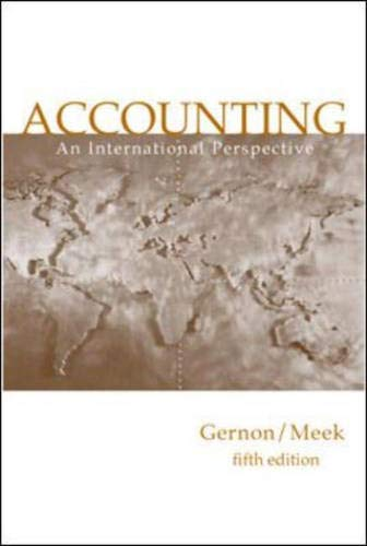 9780072316384: Accounting: An International Perspective