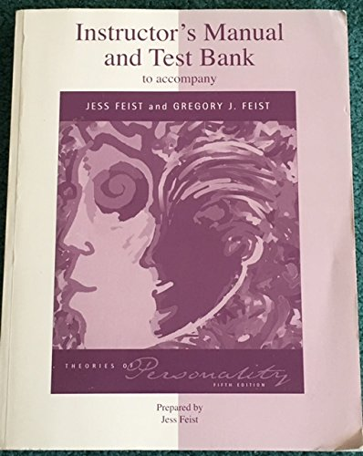9780072316810: Instructor's Manual and Test Bank to Accompany Theories of Personality