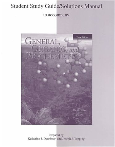 9780072317862: General, Organic, and Biochemistry (Study Guide)