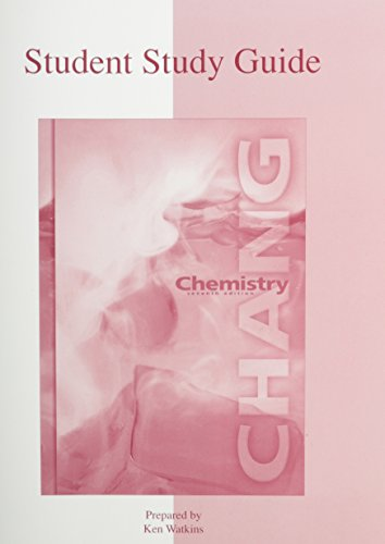 9780072318012: Chemistry, Student Study Guide
