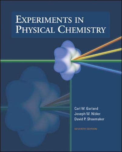 9780072318210: Experiments In Physical Chemistry