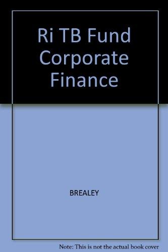 9780072318333: Ri TB Fund Corporate Finance