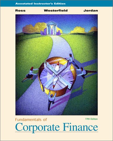 9780072319361: Fundamentals of Corporate Finance with Study Cd, Annotated Instructor's Edition