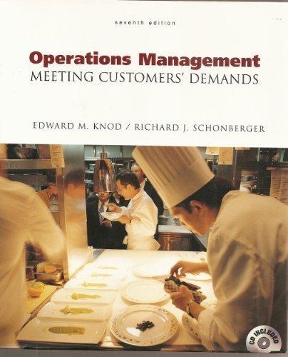 Operations Management: Customer-Focused Principles: Knod, Edward M.;Schonberger,