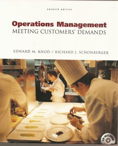 9780072320596: Operations Management Meeting Customers' Demands, 7th Edition