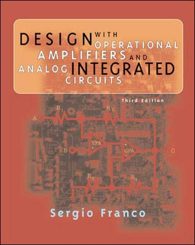 9780072320848: Design with Operational Amplifiers and Analog Integrated Circuits