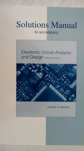 9780072320923: Instructor's Solutions Manual to Accompany Electronic Circuit Analysis and Design
