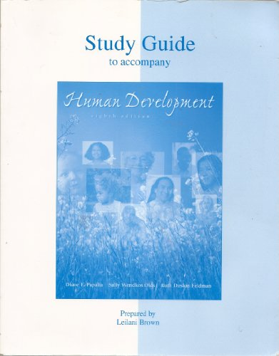 9780072321890: Student Study Guide to go with Human Development