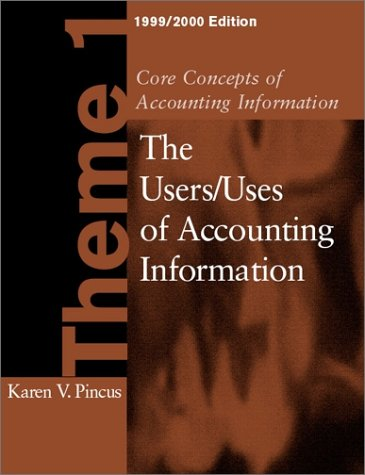 9780072321920: Core Concepts of Accounting Information Theme 1, 1999-2000 Edition