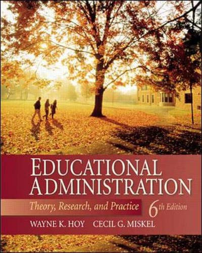 9780072322897: Educational Administration: Theory, Research, and Practice