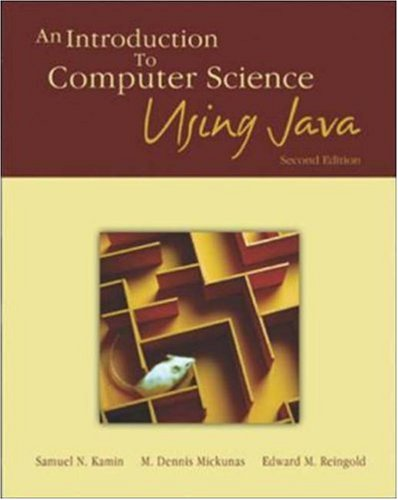 9780072323054: An Introduction to Computer Science Using Java