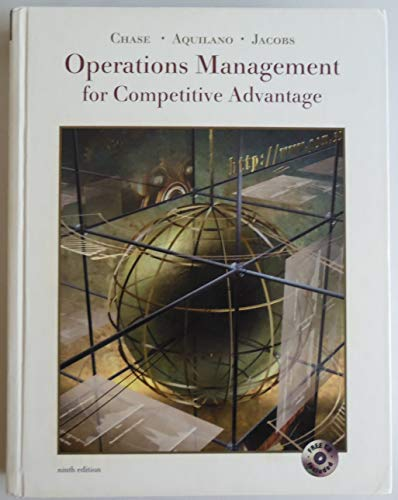 9780072323153: Operations Management for Competitive Advantage (The Irwin/Mcgraw-Hill Series. Operations and Decision Sciences)