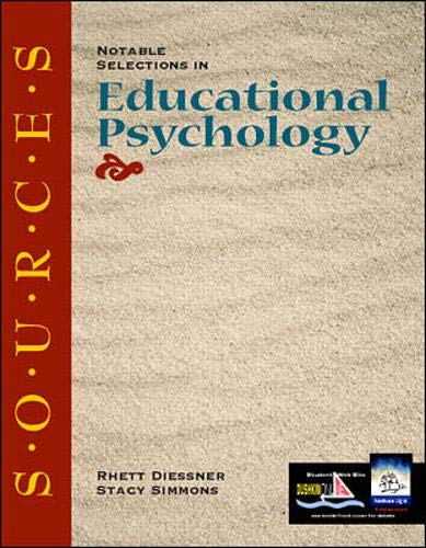 9780072323344: Sources: Notable Selections in Educational Psychology