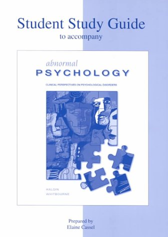 9780072323870: Abnormal Psychology : The Human Experience of Psychological Disorders - Study Guide