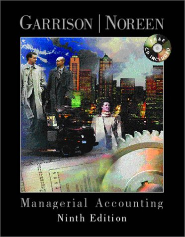 9780072324426: Managerial accounting: Concepts for planning, control, decision making 9th ED.