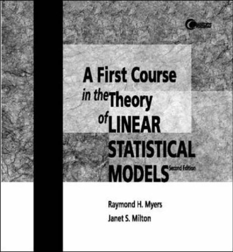 9780072327083: First Course in the Theory of Linear Statistical Models