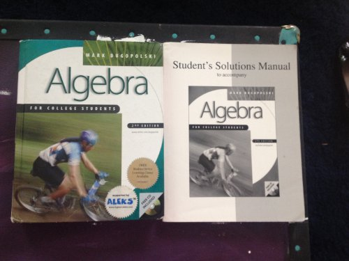 9780072327946: Algebra for College Students, 2nd Edition