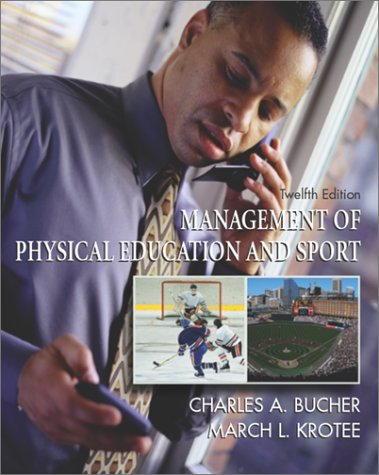 9780072329049: Management of Physical Education and Sport