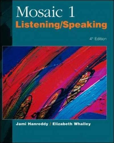 9780072329537: Mosaic 1: Listening/Speaking Skills
