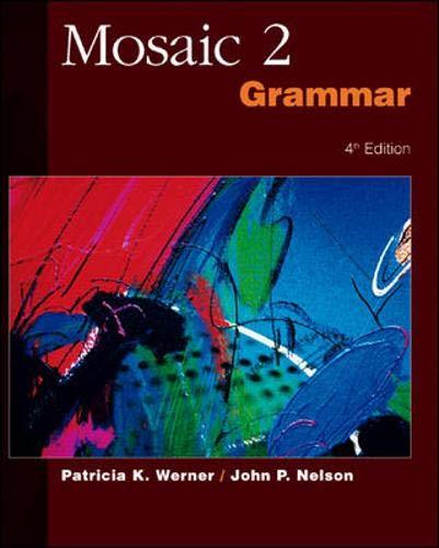 9780072329636: Mosaic 2 Grammar SB: Bk. 2