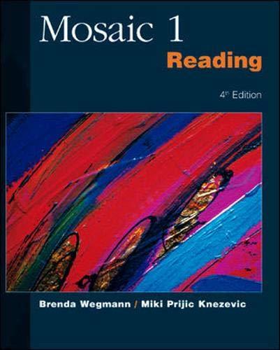 9780072329797: Mosaic 1 Reading (Mosaic I) (No. 1)