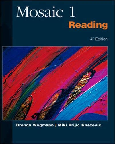 9780072329797: Mosaic One Reading (Mosaic I) (No. 1)