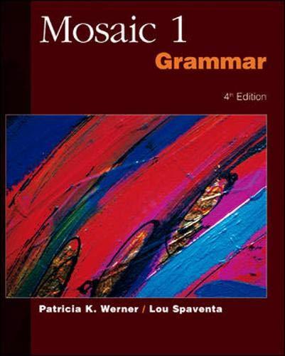 9780072329834: Mosaic 1 Grammar SB: Student Book Bk.. 1