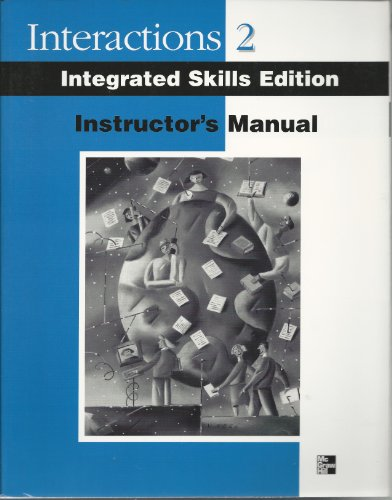 9780072330540: Instructor's Manual/test Bank to Accompany Interactions Two: Integrated Skills Edition