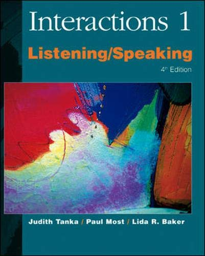 9780072330656: Interactions/Mosaic, 4th Edition - Interactions 1 (High Beginning to Low Intermediate) - Listening/Speaking Audio CDs (4): Interactions 1 High Beginning to Low Intermediate No. 1